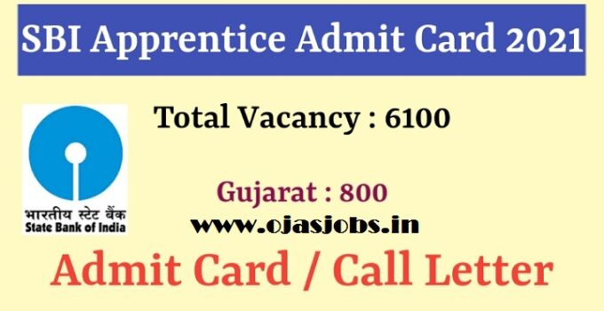 SBI Apprentice Admit Card 2021   SBI 6100 Apprentice Admit Card 2021 Out