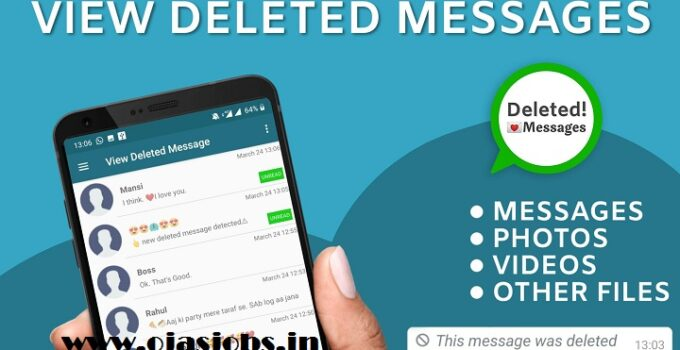 View Deleted messages and photo recovery Application
